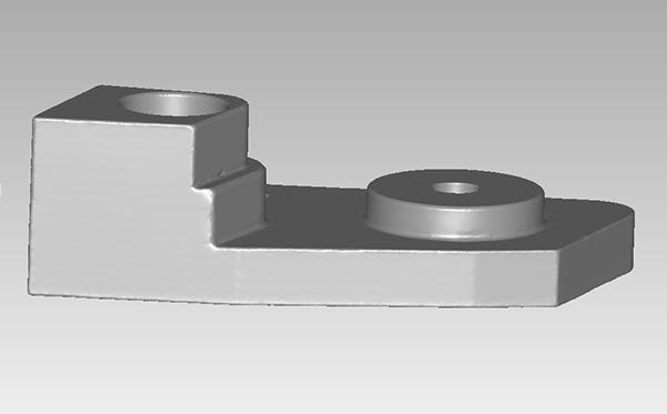 Modelo 3D de la pieza real Digitalizada