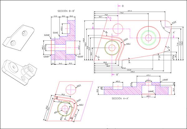 Generación de los planos de la pieza en 2D
