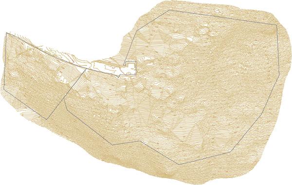 Curvas de nivel generadas mediante Dron