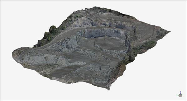 Modelo digital de una cantera