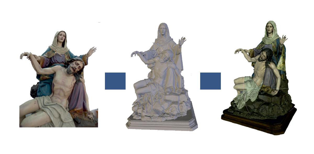digitalización 3d figura