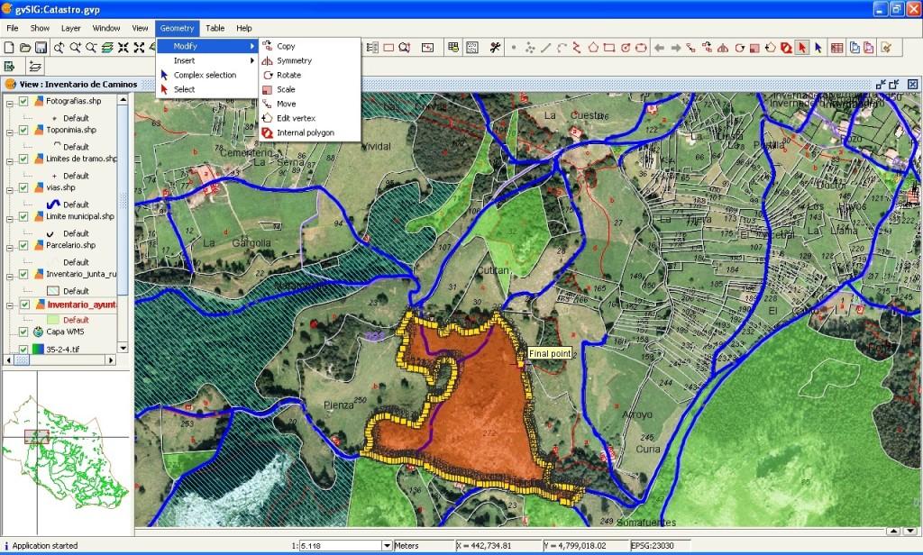 Sistema SIG en topografía